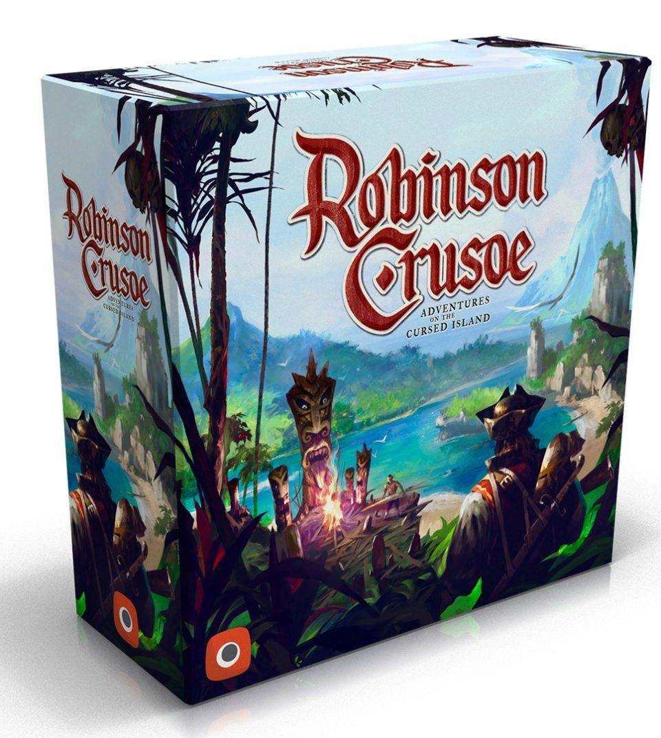 Robinson Crusoe: Collector's Edition and The Book of Adventures are coming to Gamefound with amazing miniatures crafted by Awaken Realms
